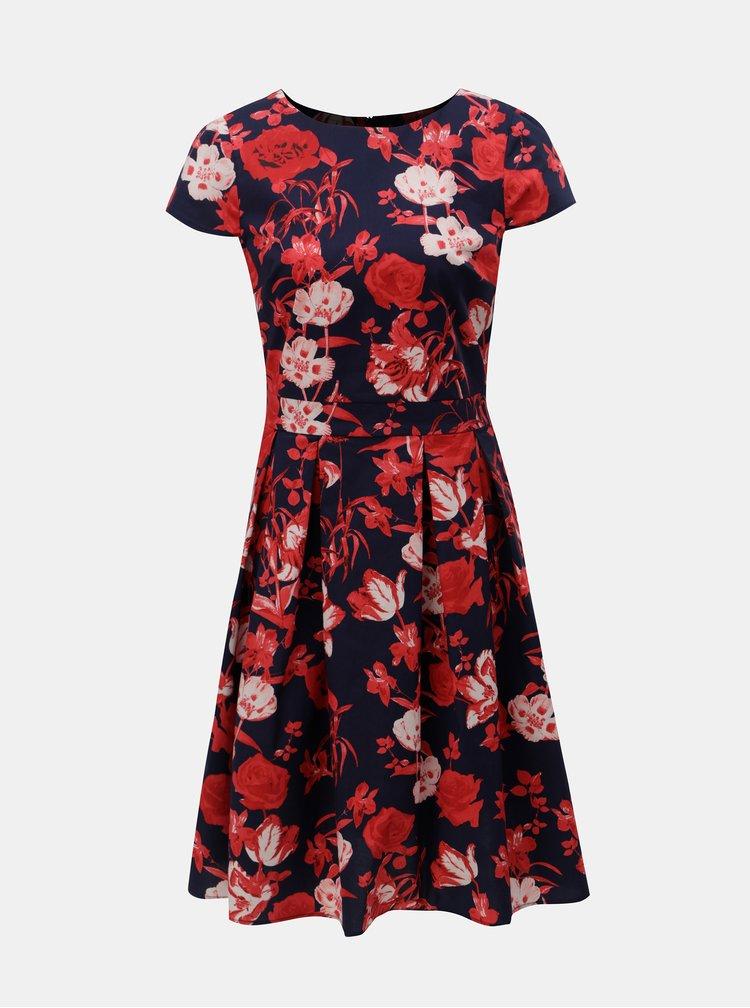 Rochie rosu-albastru florala Dorothy Perkins