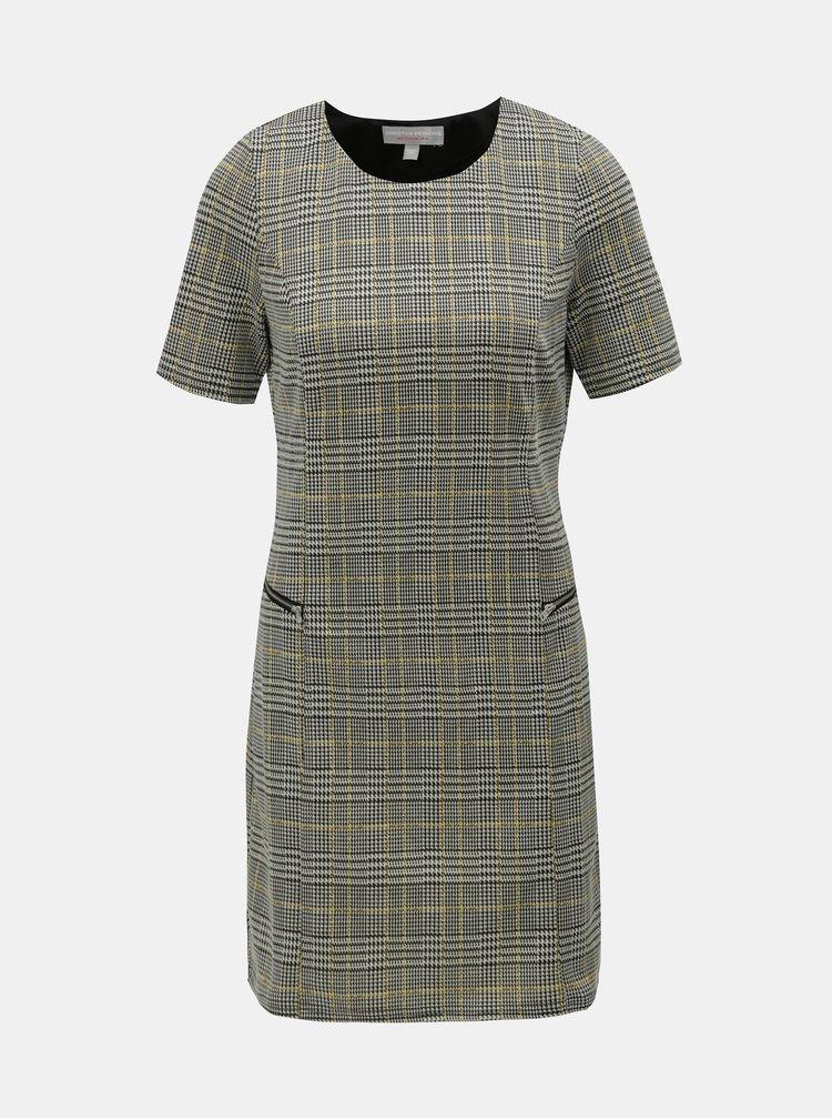 Sivé vzorované šaty Dorothy Perkins Petite