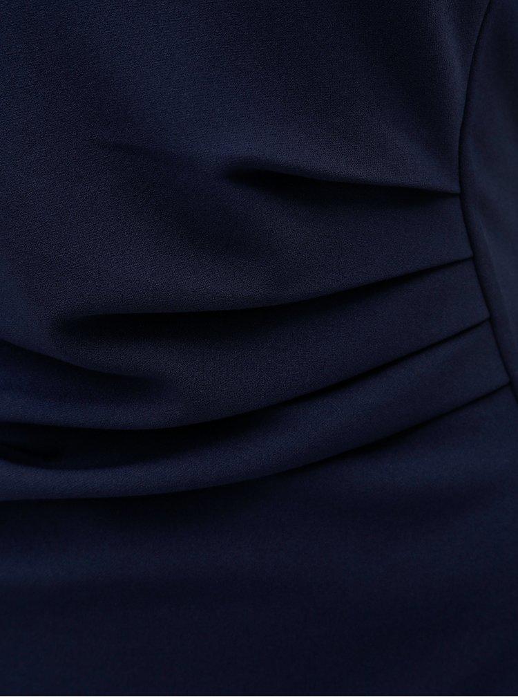 Tmavě modré šaty s řasením na boku Dorothy Perkins
