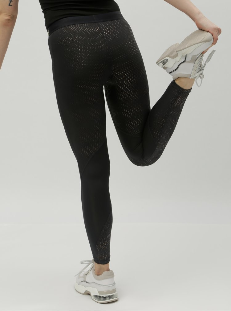 Leggings functionali negri cu buline aurii Nike