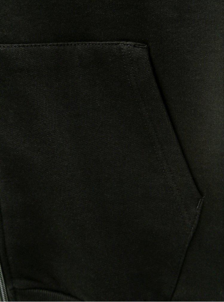 Hanorac negru cu fermoar Burton Menswear London
