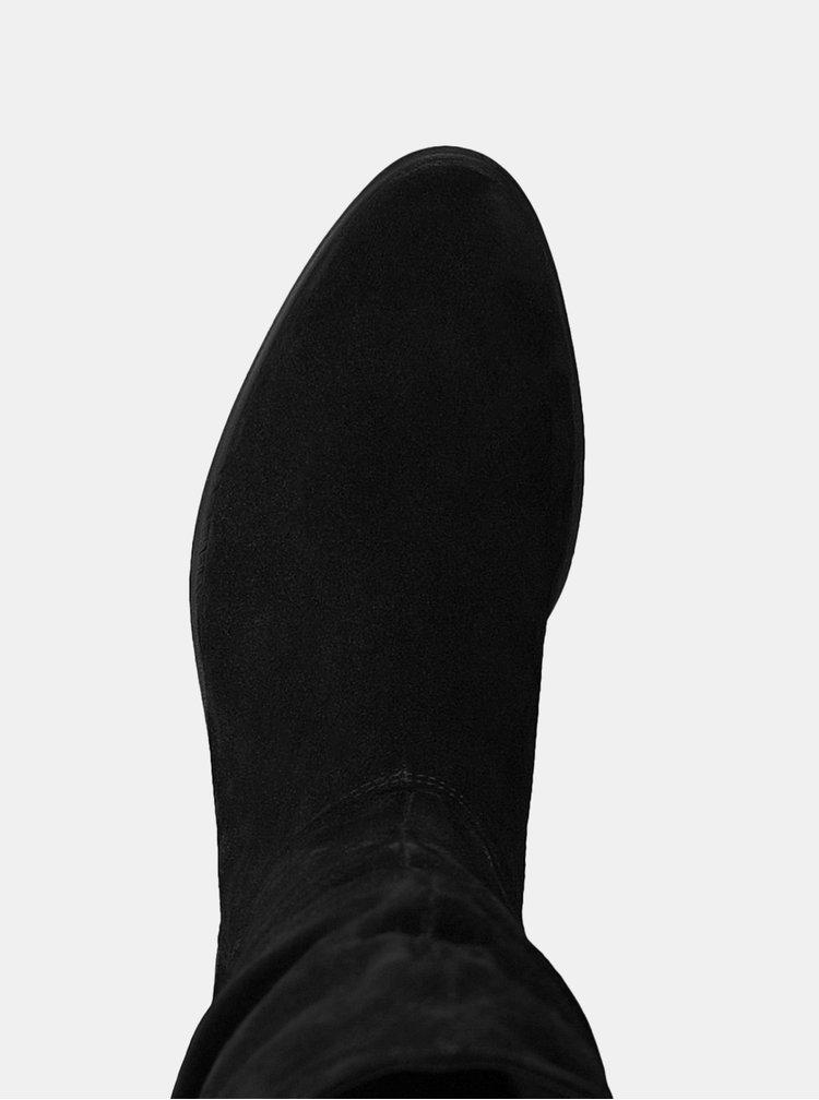 Cizme negre din piele intoarsa Tamaris