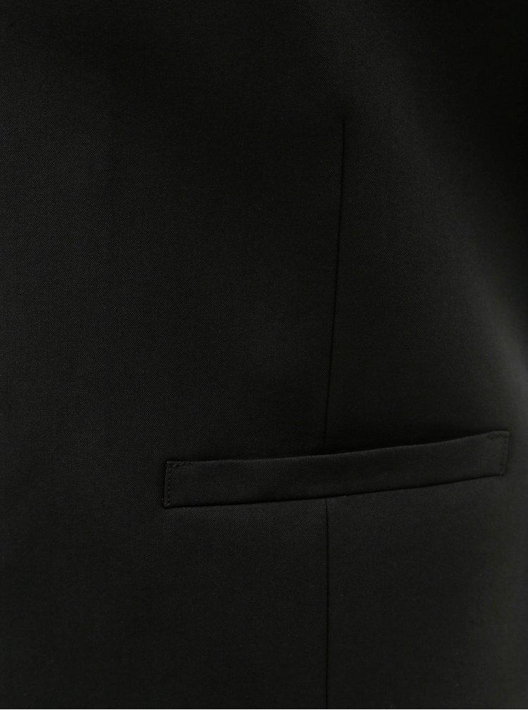 Vesta formala neagra muscle fit Burton Menswear London
