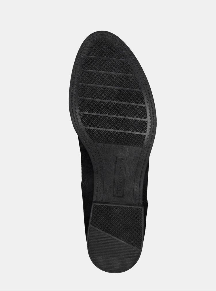 Cizme negre din piele Tamaris
