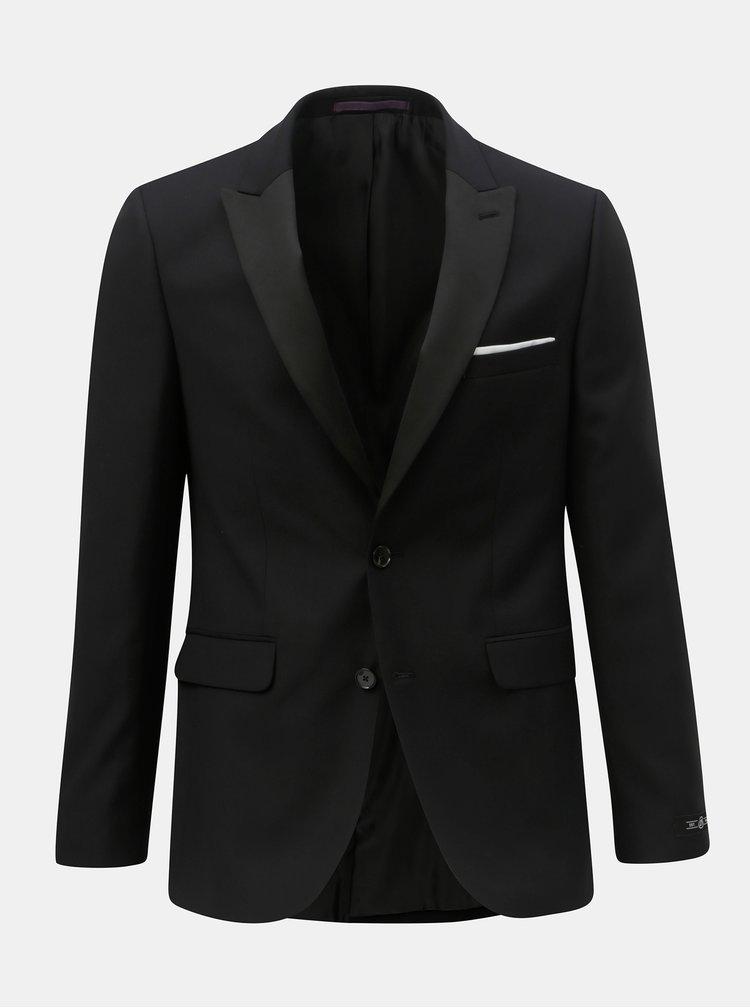 Sacou formal negru slim fit Burton Menswear London