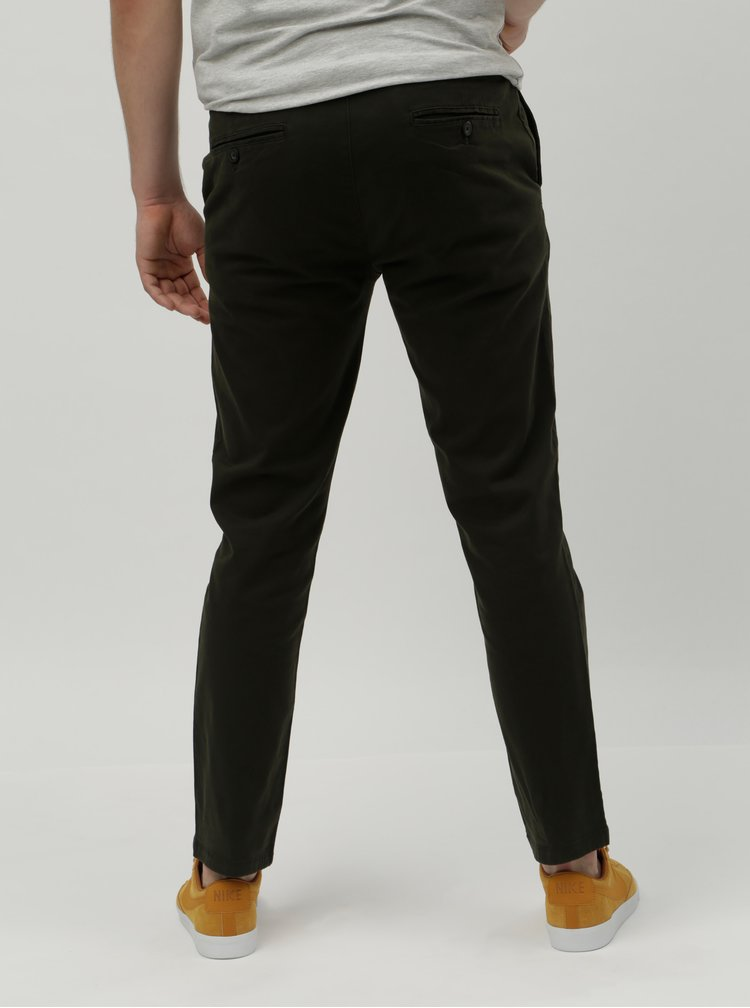 Khaki slim chino kalhoty Burton Menswear London