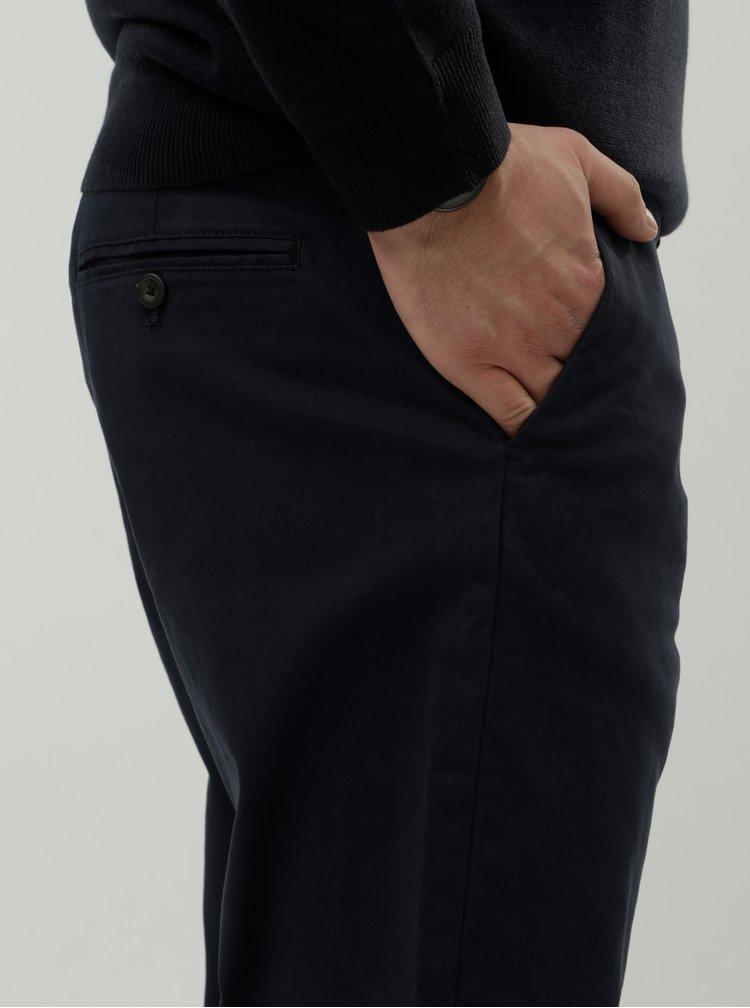 Tmavomodré tapered chino nohavice Burton Menswear London