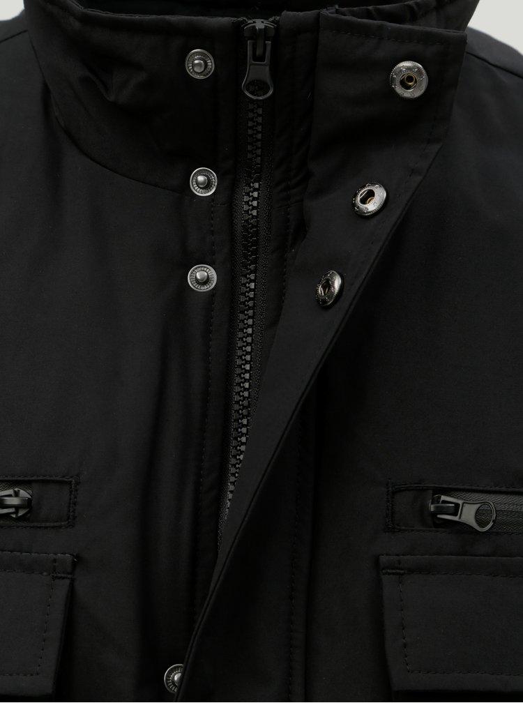 Jacheta neagra de iarna cu buzunare Burton Menswear London