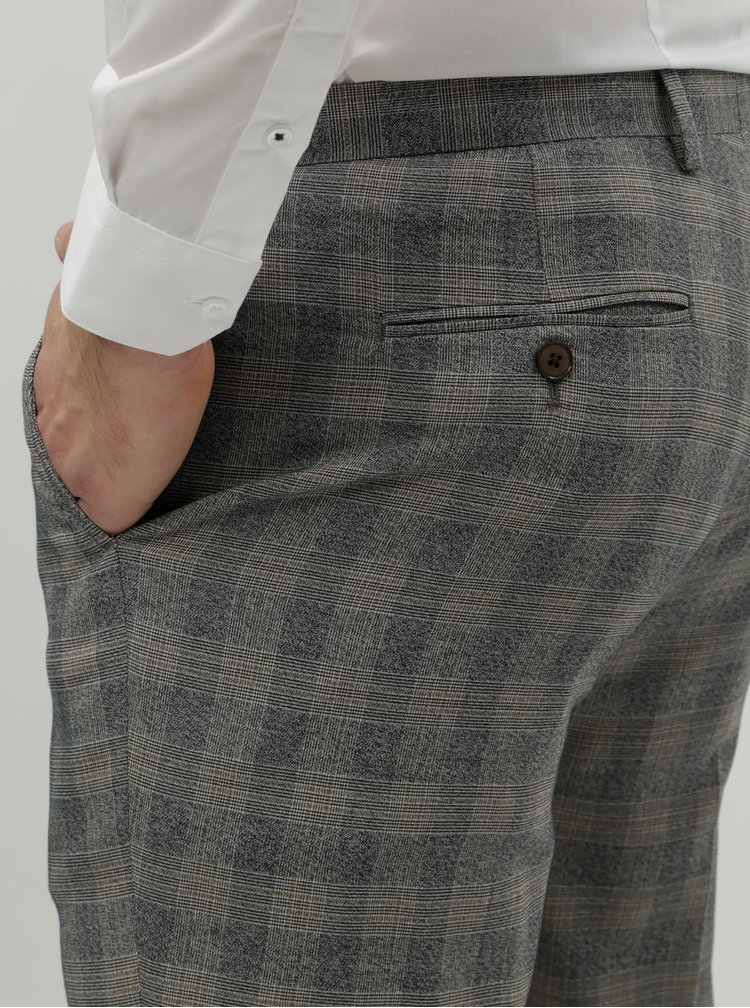 Pantaloni formali gri in carouri slim fit Burton Menswear London