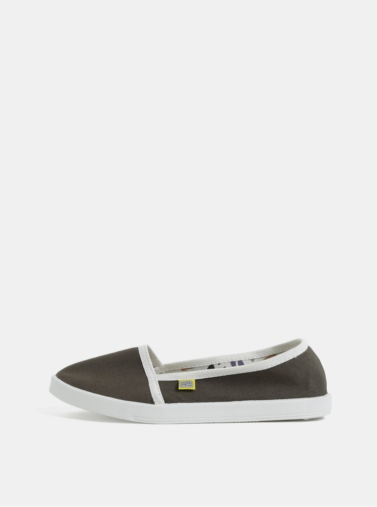 Pantofi slip on kaki de dama Oldcom Canvas