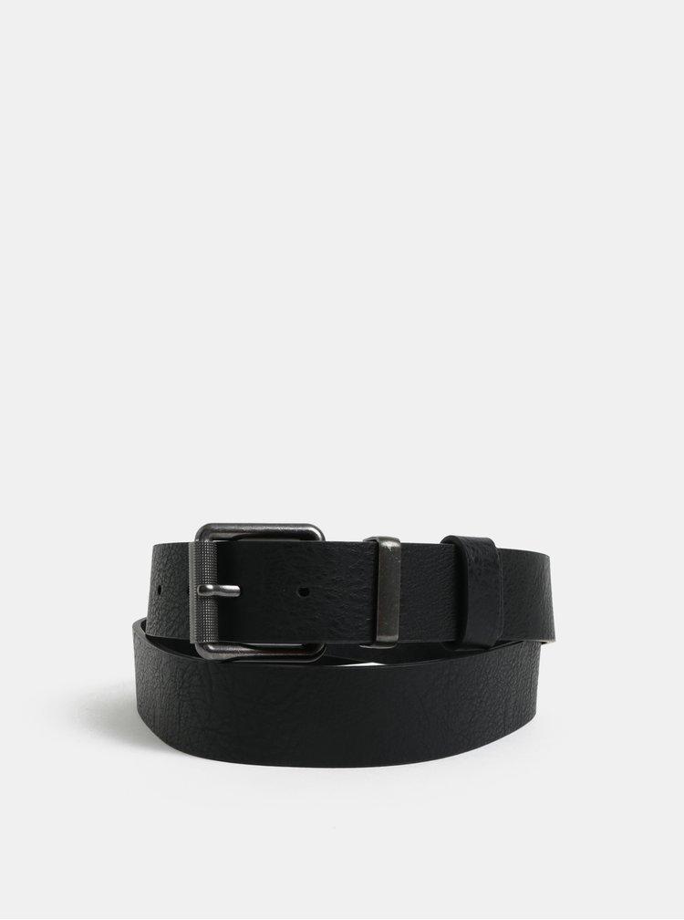 Curea neagra din piele Burton Menswear London