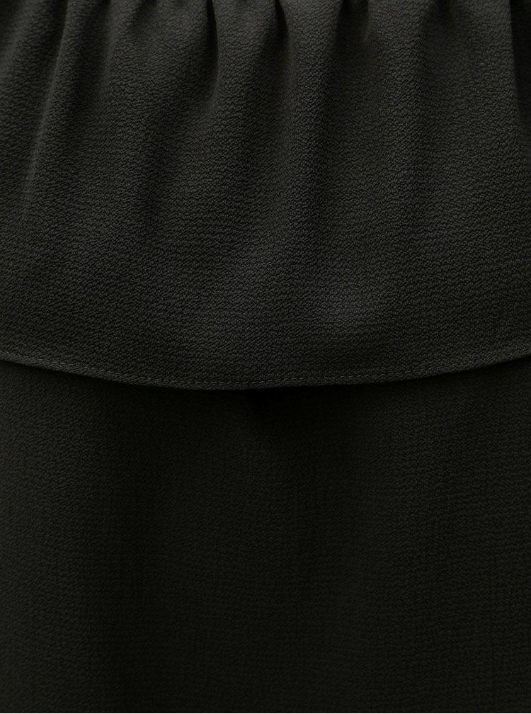 Černý top s volánem M&Co