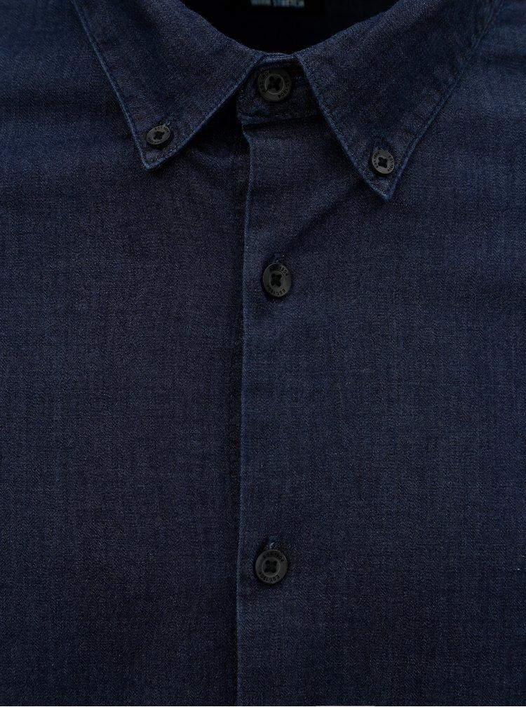 Tmavě modrá džínová košile Burton Menswear London