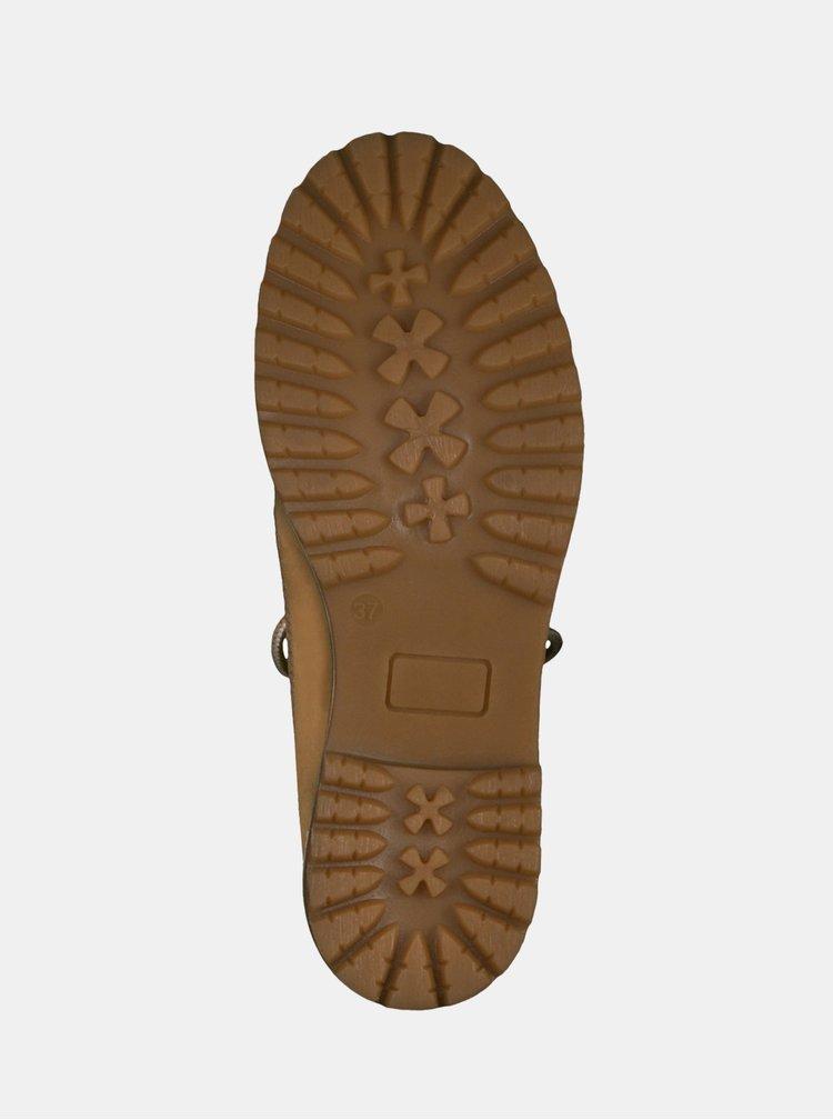 Hnědé kotníkové boty Tamaris