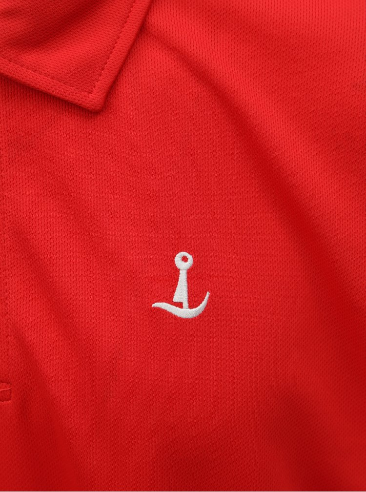 Tricou polo functional rosu Mr. Sailor
