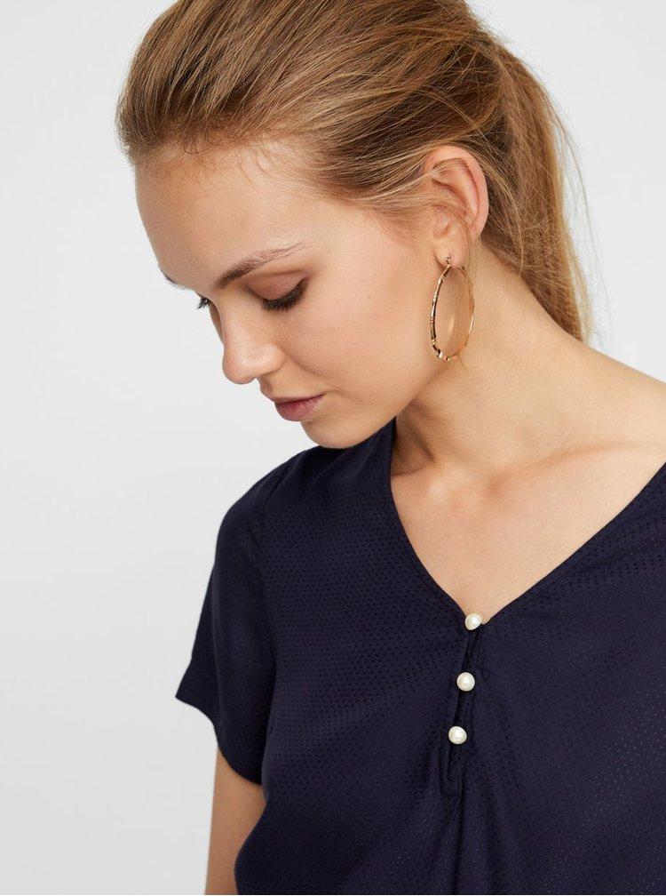 Bluza albastru inchis cu model VERO MODA
