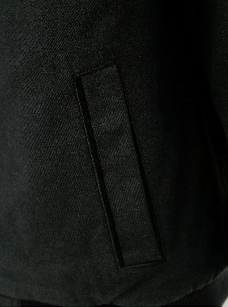 Tmavě šedá pánská bunda BUSHMAN Bismarck