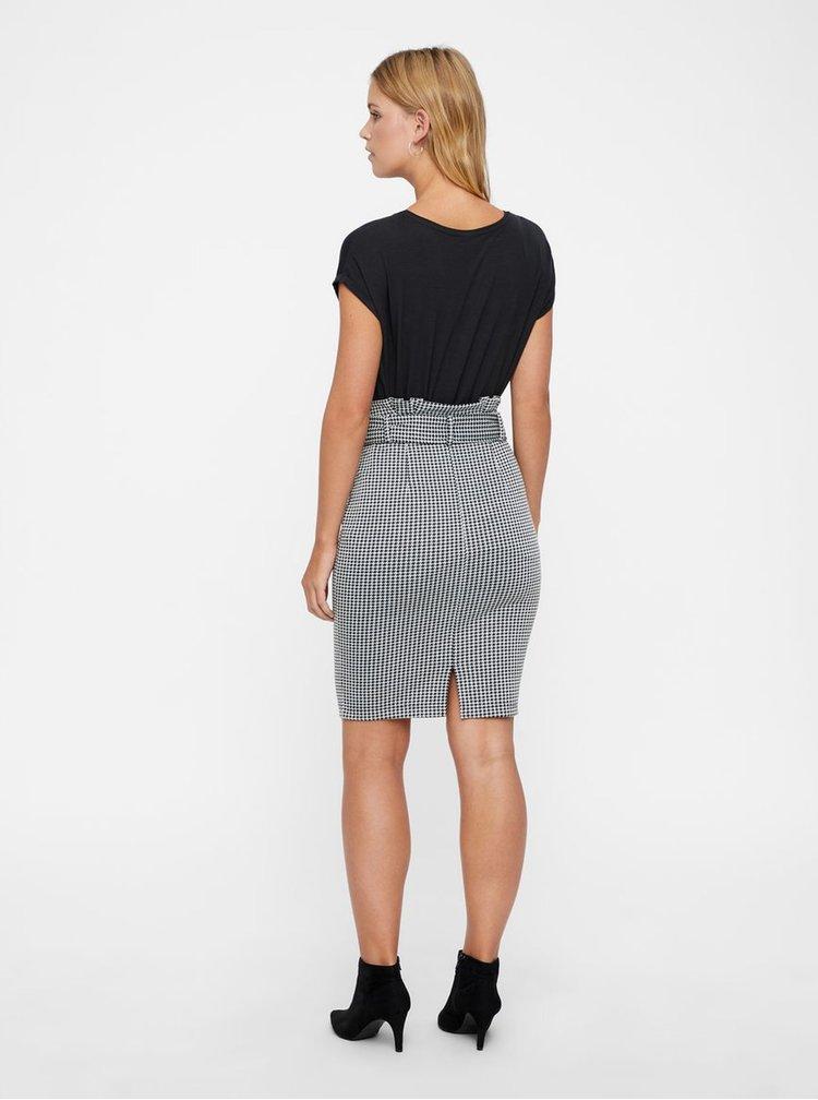 Šedá vzorovaná pouzdrová sukně s páskem AWARE by VERO MODA Forever