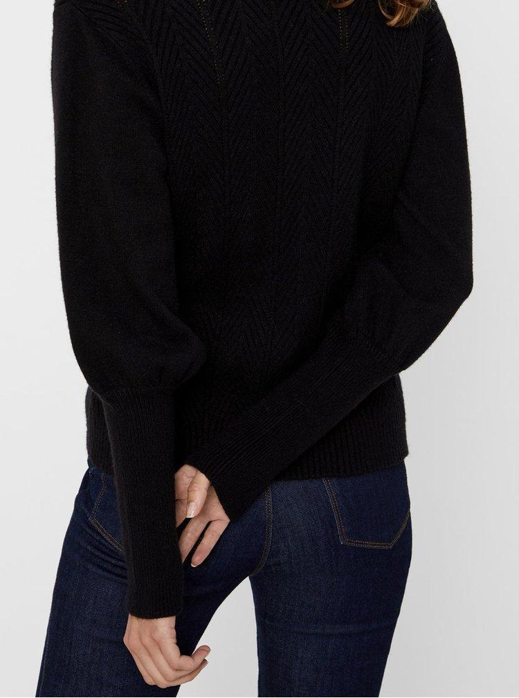 Černý vzorovaný svetr VERO MODA Diva