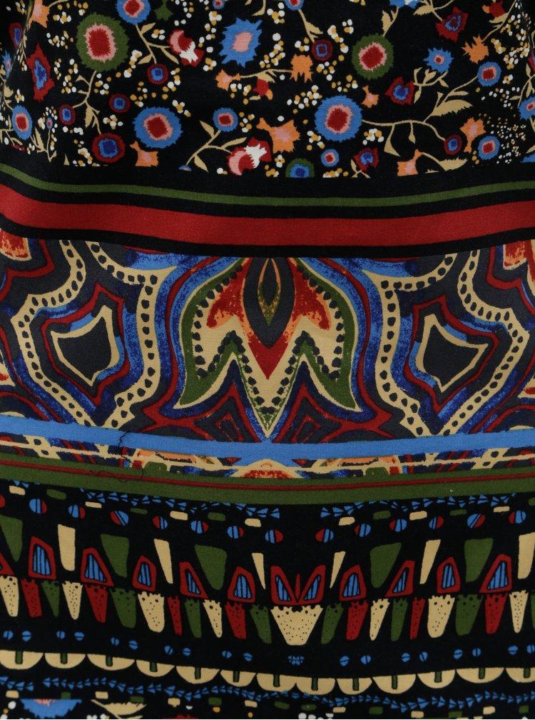 Černo-červené pouzdrové vzorované šaty Desigual Gracia