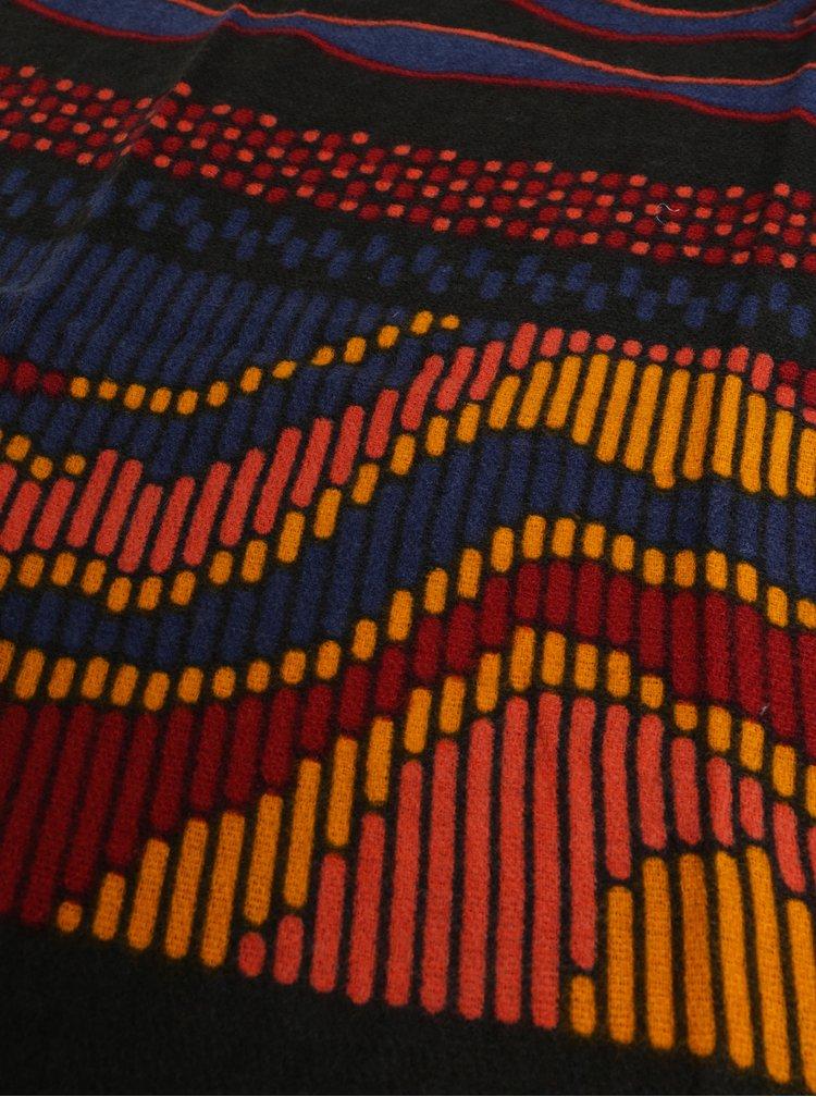 Fular oranj-negru cu model Desigual Tiger Stripes