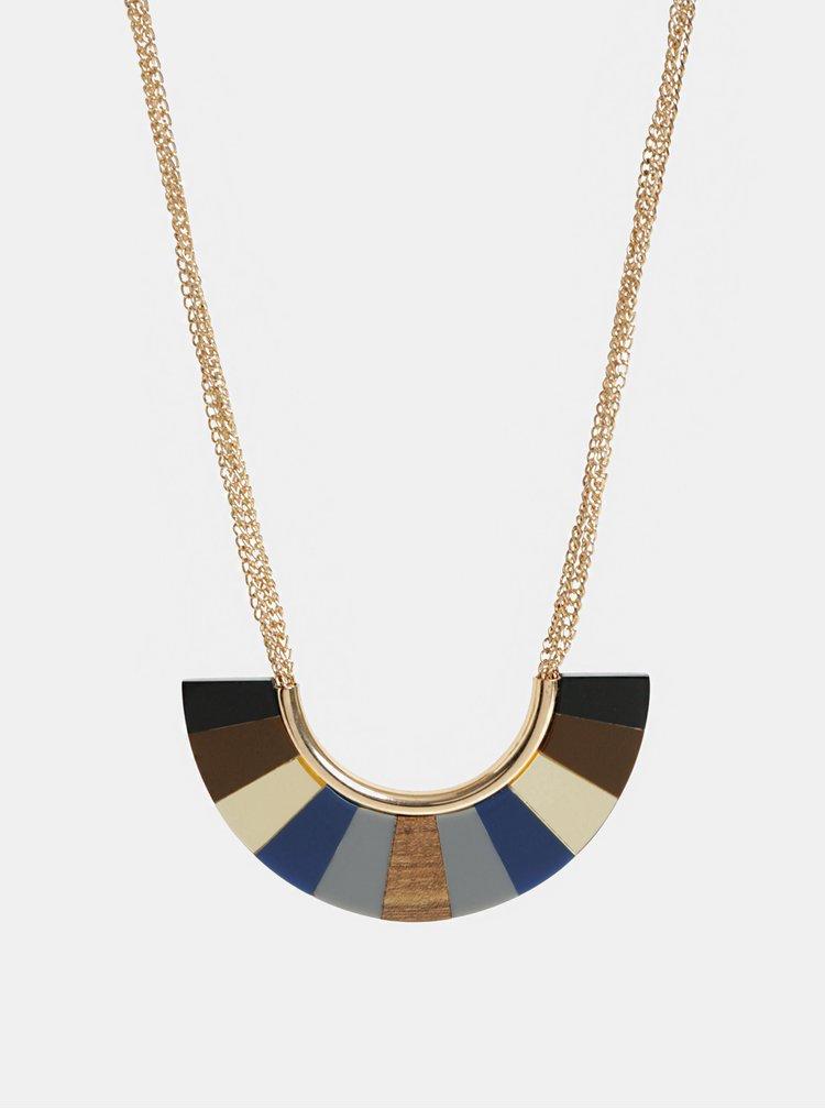 Hnědý náhrdelník Desigual Wood Blue