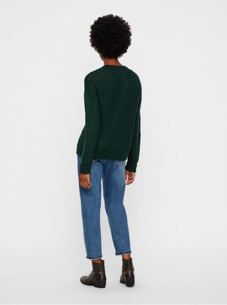 Tmavě zelený svetr Noisy May