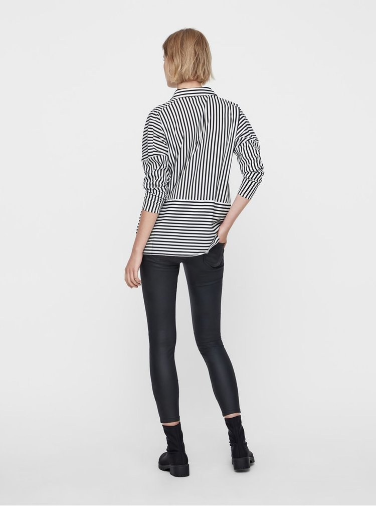 Černo-bílá pruhovaná volná košile Noisy May