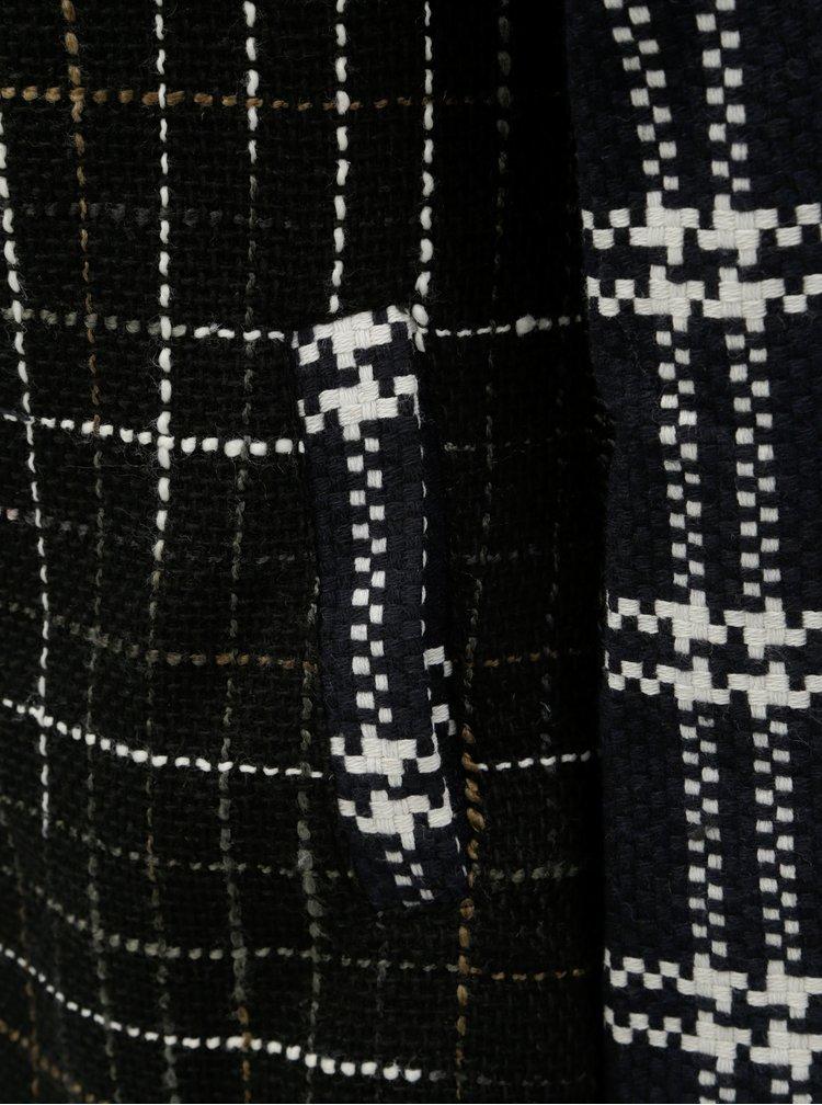 Pardesiu albastru-gri cu model si amestec de lana Desigual Cincinnati