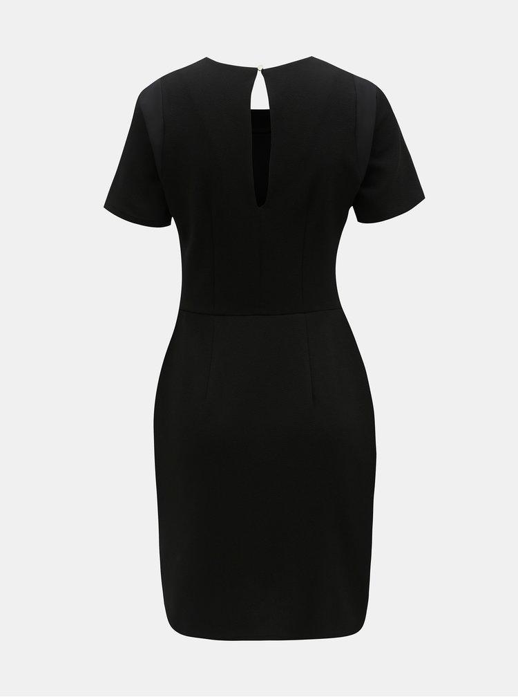 Černé šaty s průsvitnými detaily Dorothy Perkins