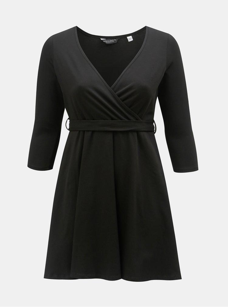 c51eaff5ddd Černé šaty s řasením na břiše Dorothy Perkins Curve