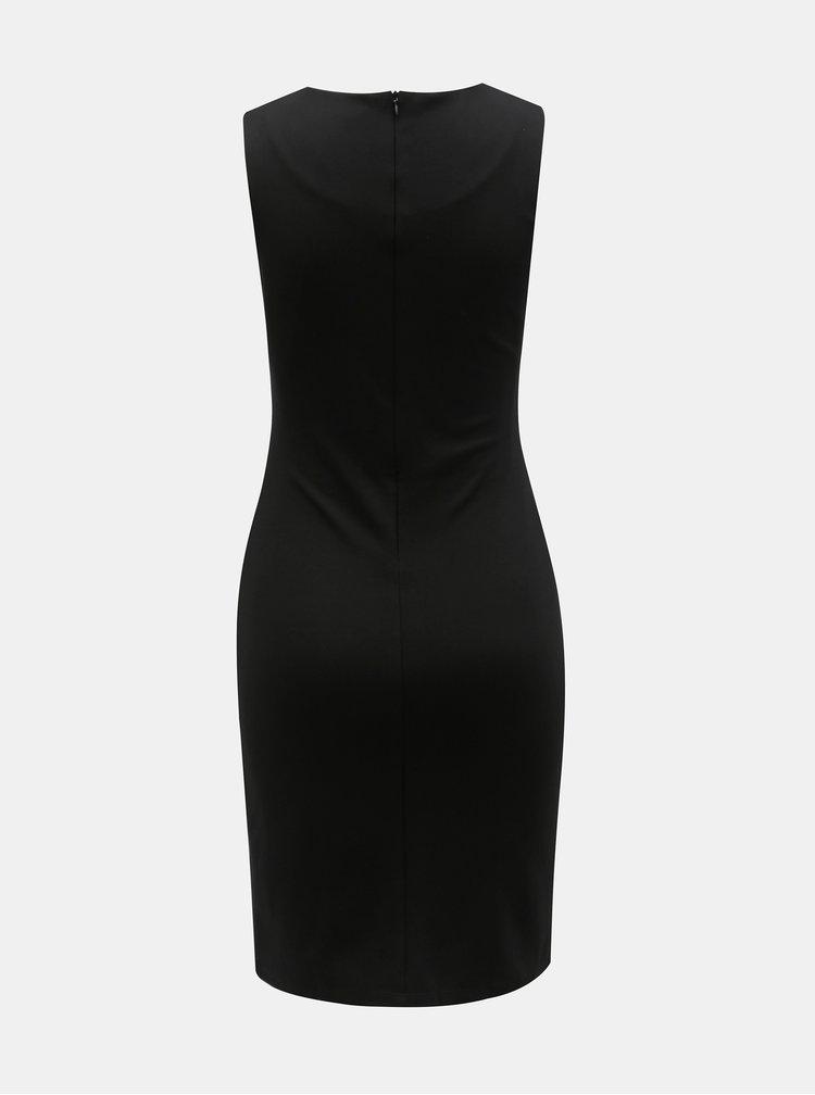 Šedo-černé pouzdrové šaty s motivem Desigual Corina