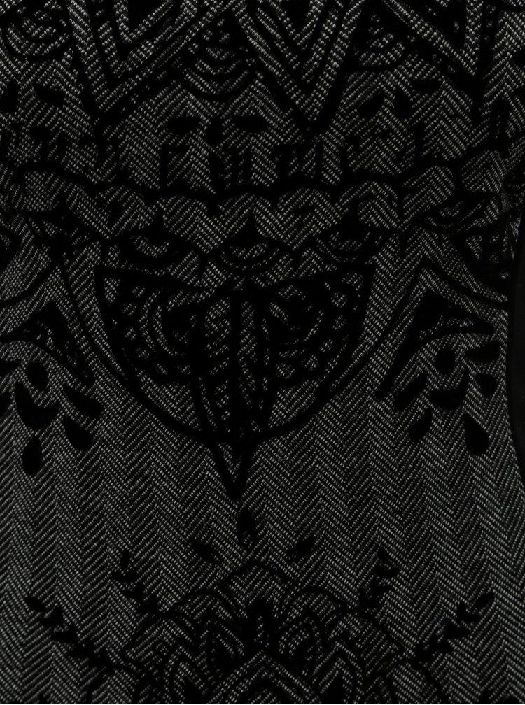 Rochie mulata gri-negru cu motiv Desigual Corina