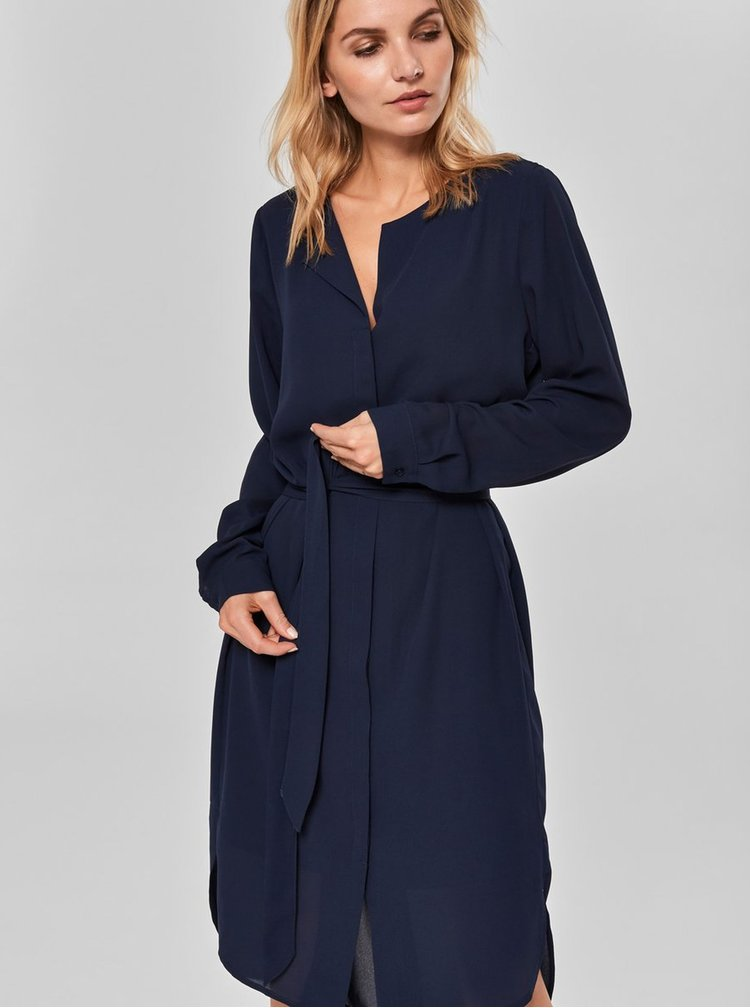 Rochie tip camasa albastru inchis Selected Femme Dynella