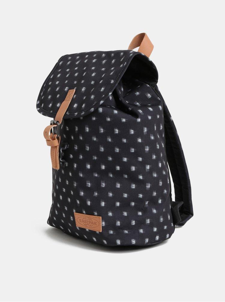 Tmavě šedý dámský vzorovaný batoh s koženými detaily Eastpak Aminimal 10,5 l