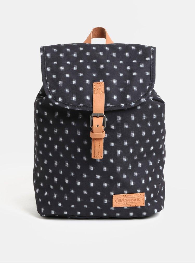 Tmavosivý dámsky vzorovaný batoh s koženými detailmi Eastpak Aminimal 10.5 l