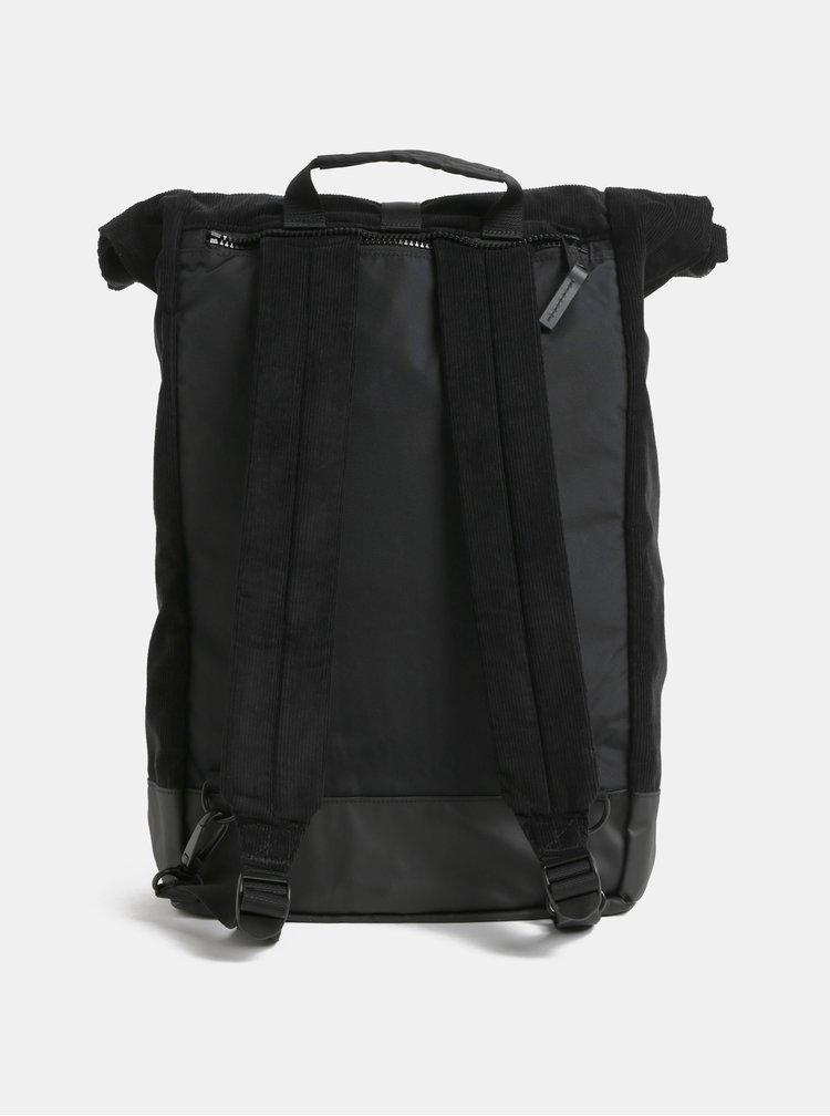 Rucsac negru din material reiat cu barete ajustabile Eastpak Two Cords 24 l