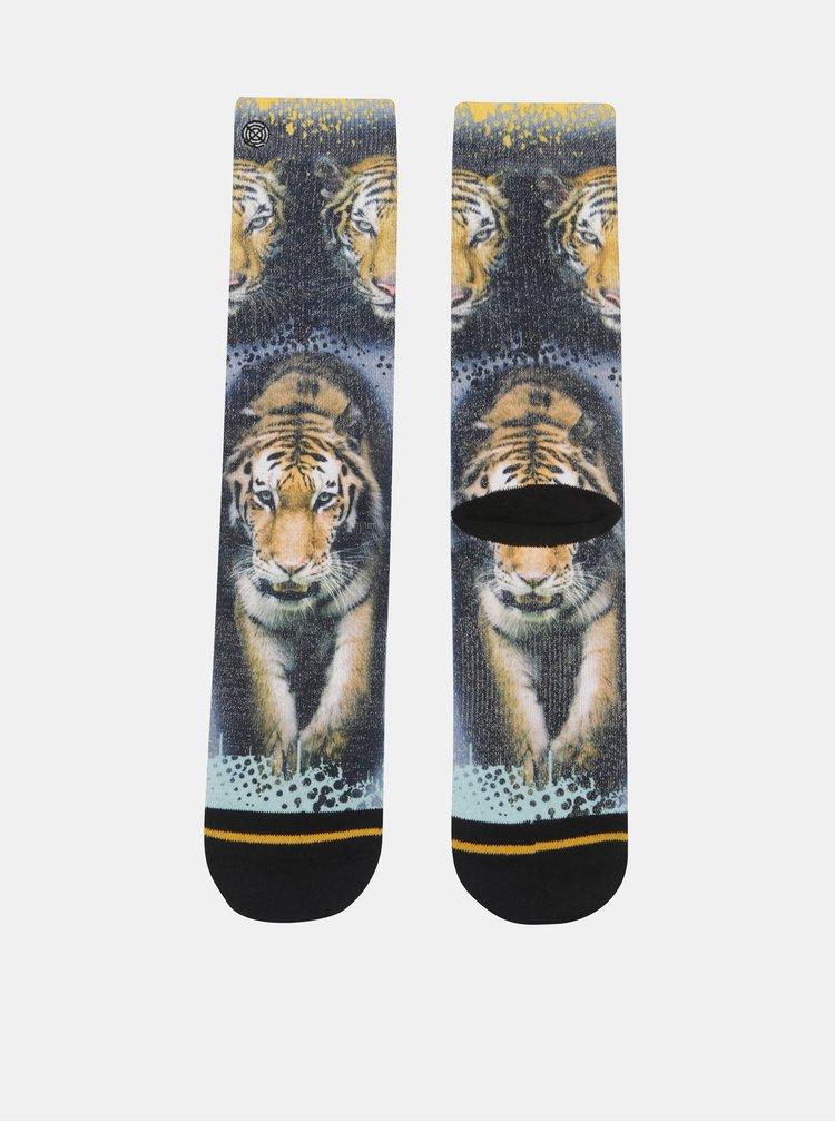 Oranžovo-černé pánské ponožky s motivem tygra XPOOOS