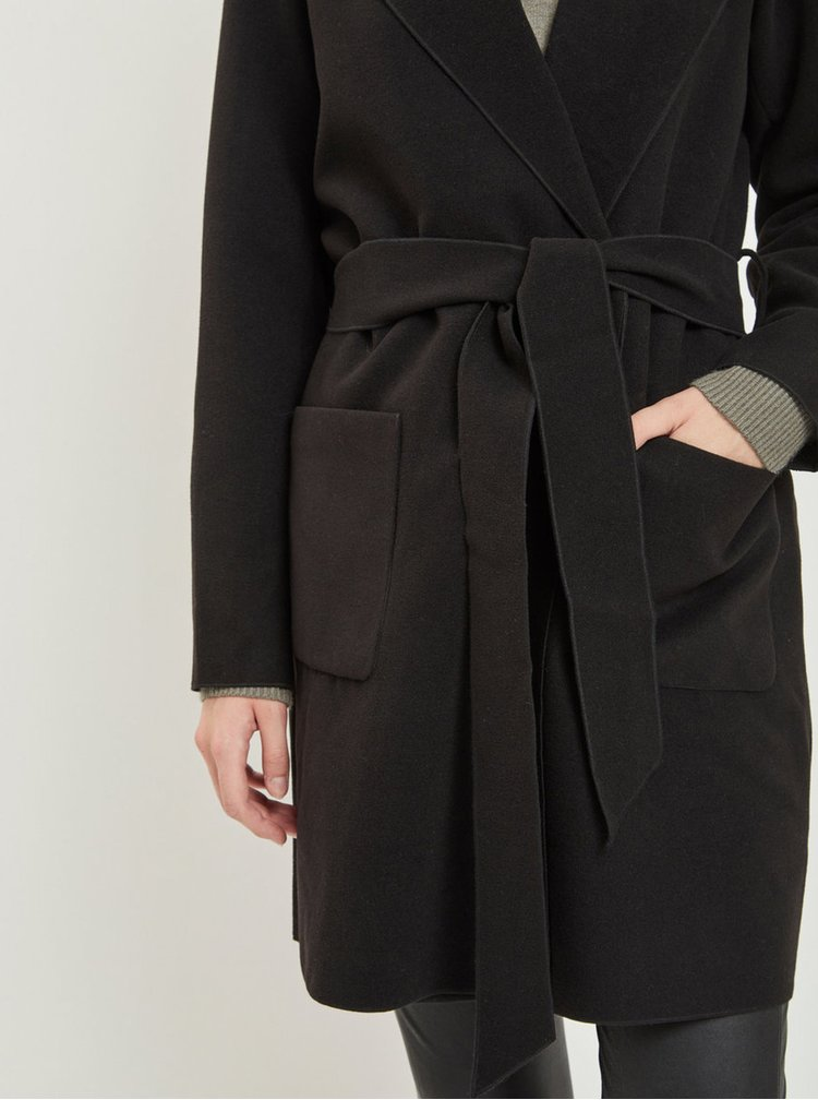 Černý kabát s kapucí VILA Apple
