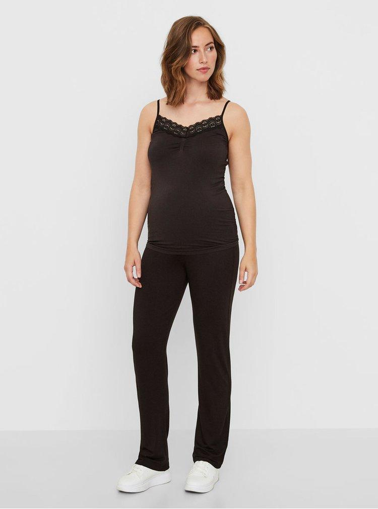 Maiou negru cu dantela pentru pentru femei insarcinate Mama.licious Nenna