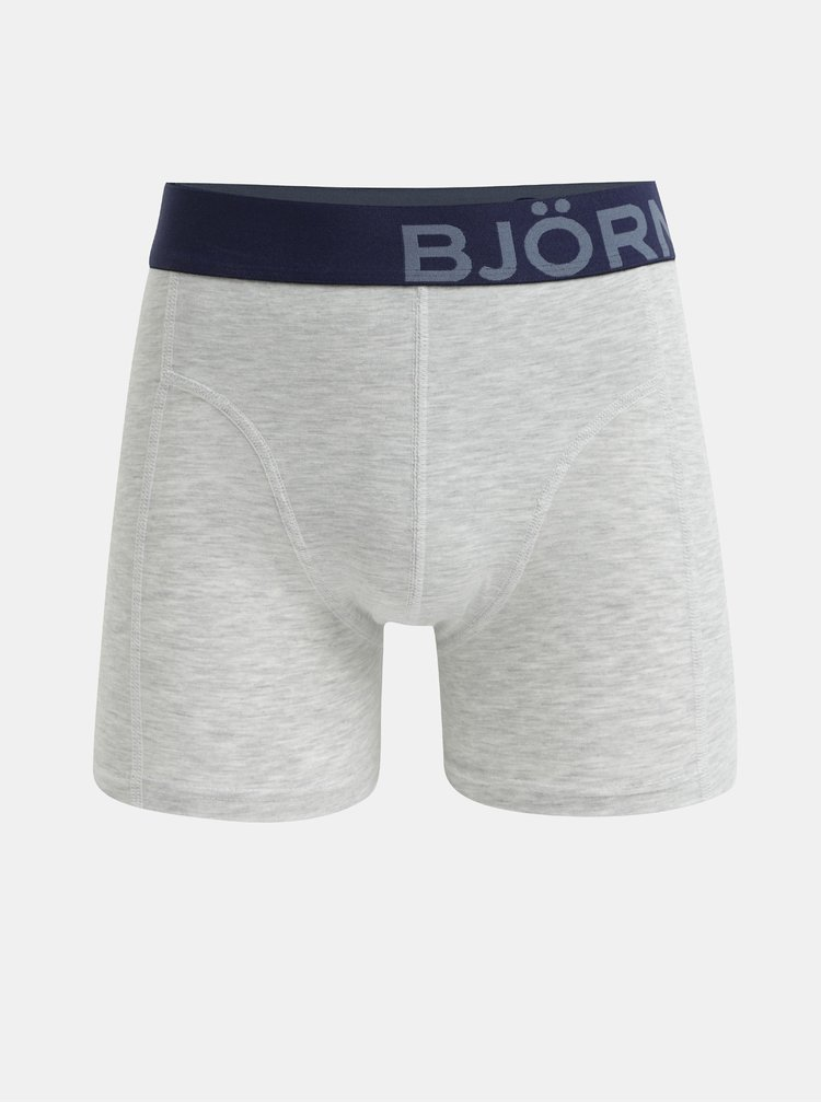 Sada dvou boxerek v šedé a modré barvě Björn Borg