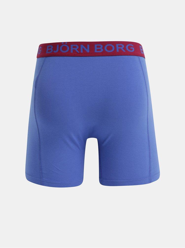 Balenie dvoch boxeriek v modrej a čiernej farbe Björn Borg