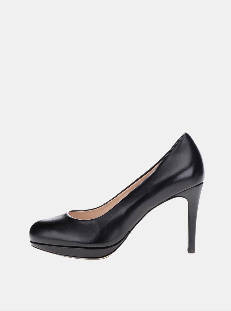 Pantofi negri din piele Högl toc stiletto