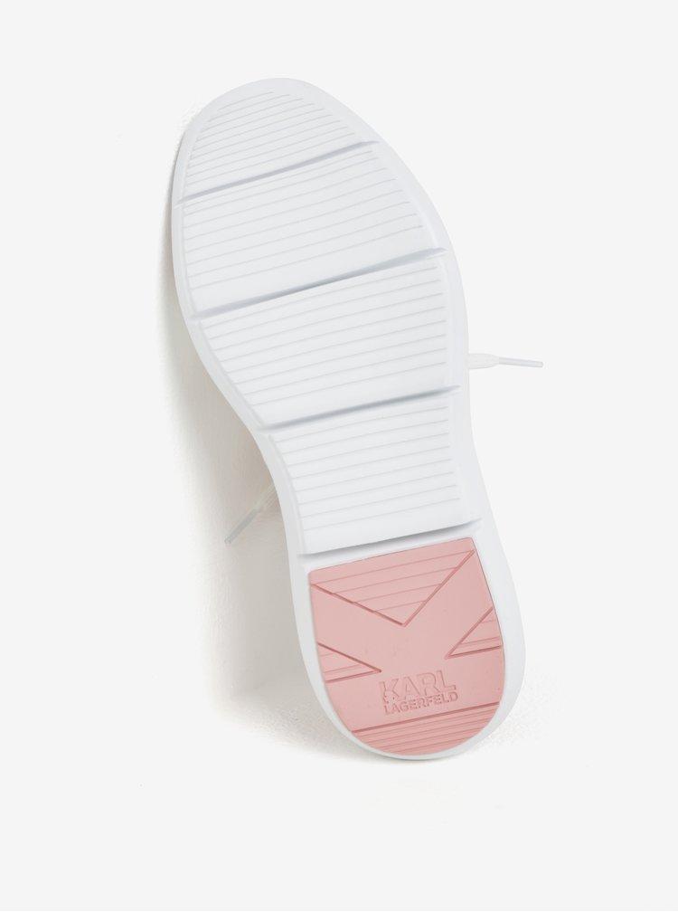 Růžovo-bílé tenisky KARL LAGERFELD Vitesse