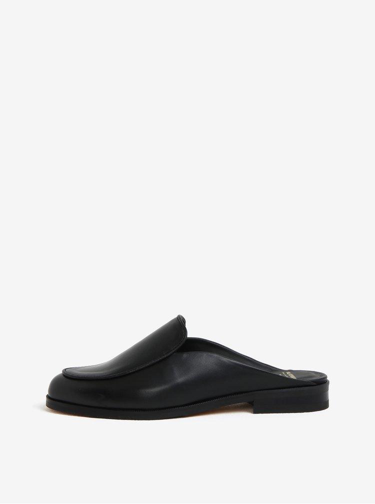 Papuci negri din piele pentru femei - Royal RepubliQ