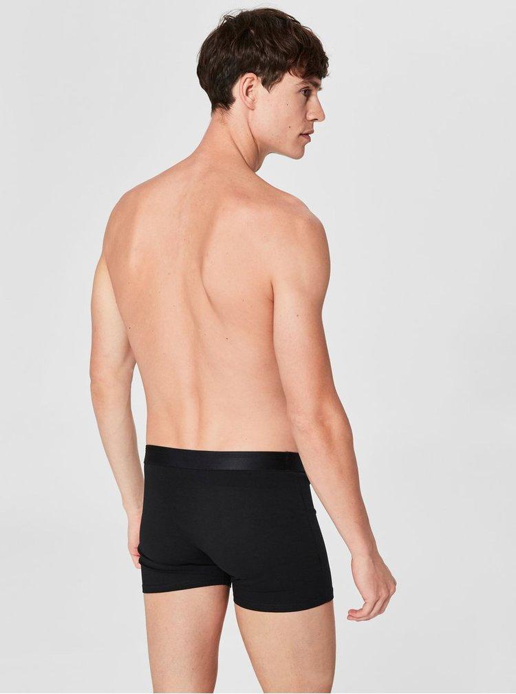Černé boxerky Selected Homme Kris