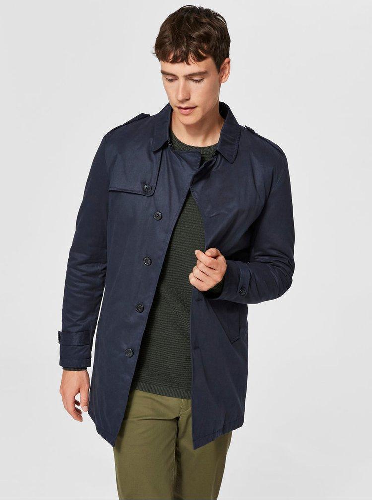 Tmavomodrý kabát Selected Homme