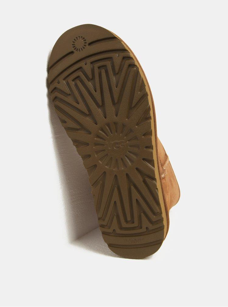 Cizme maro impermeabile de iarna din piele - UGG Classic Short II