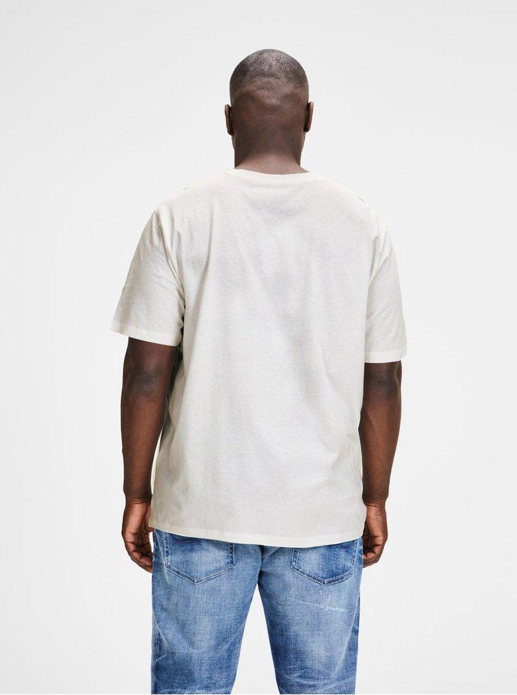 Tricou alb cu print Jack & Jones Pleo