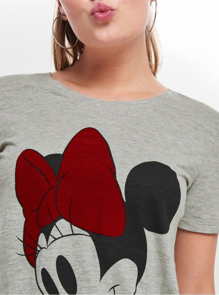 Sivé melírované tričko s krátkym rukávom ONLY Minnie